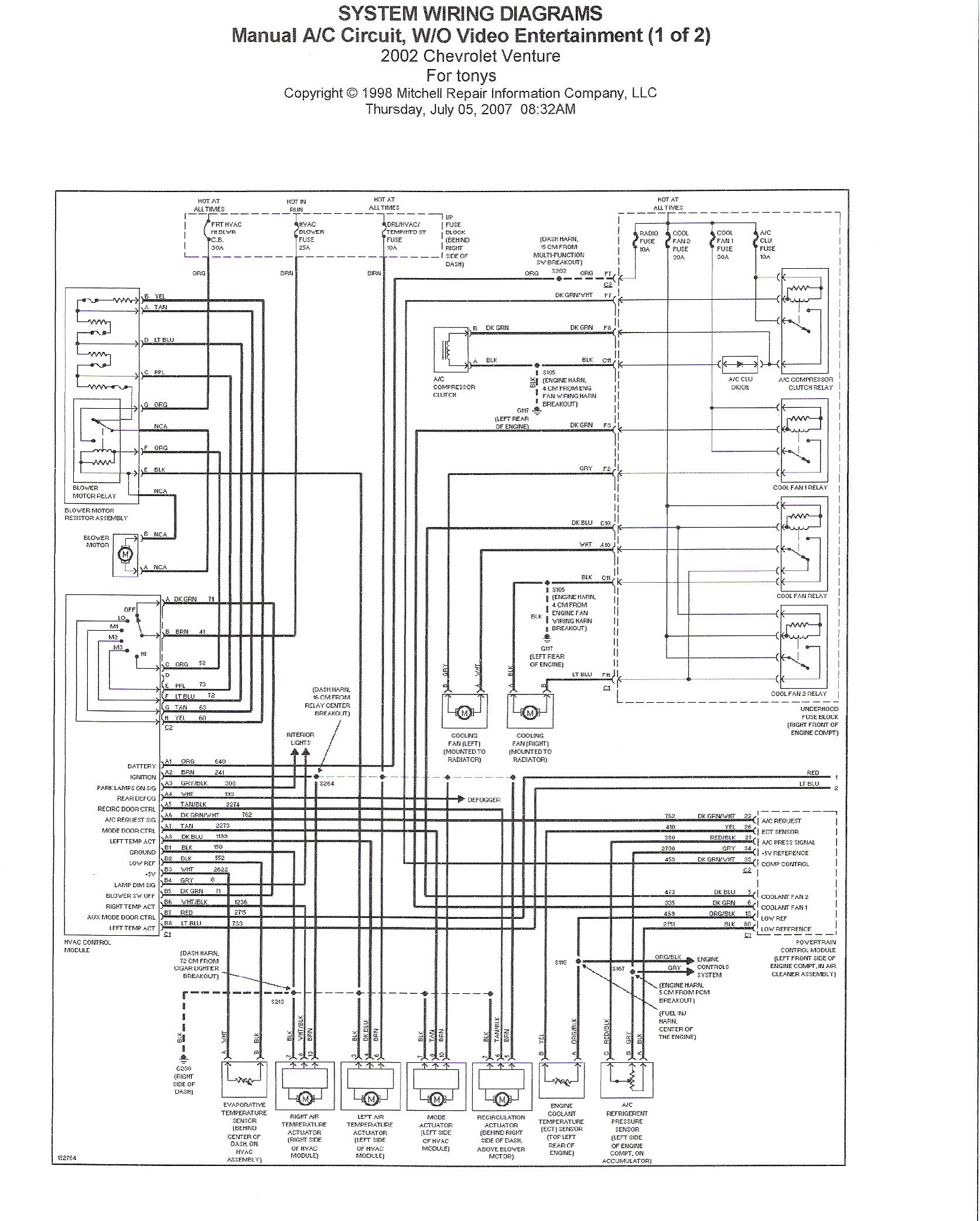 02 chevy venture wiring diagram