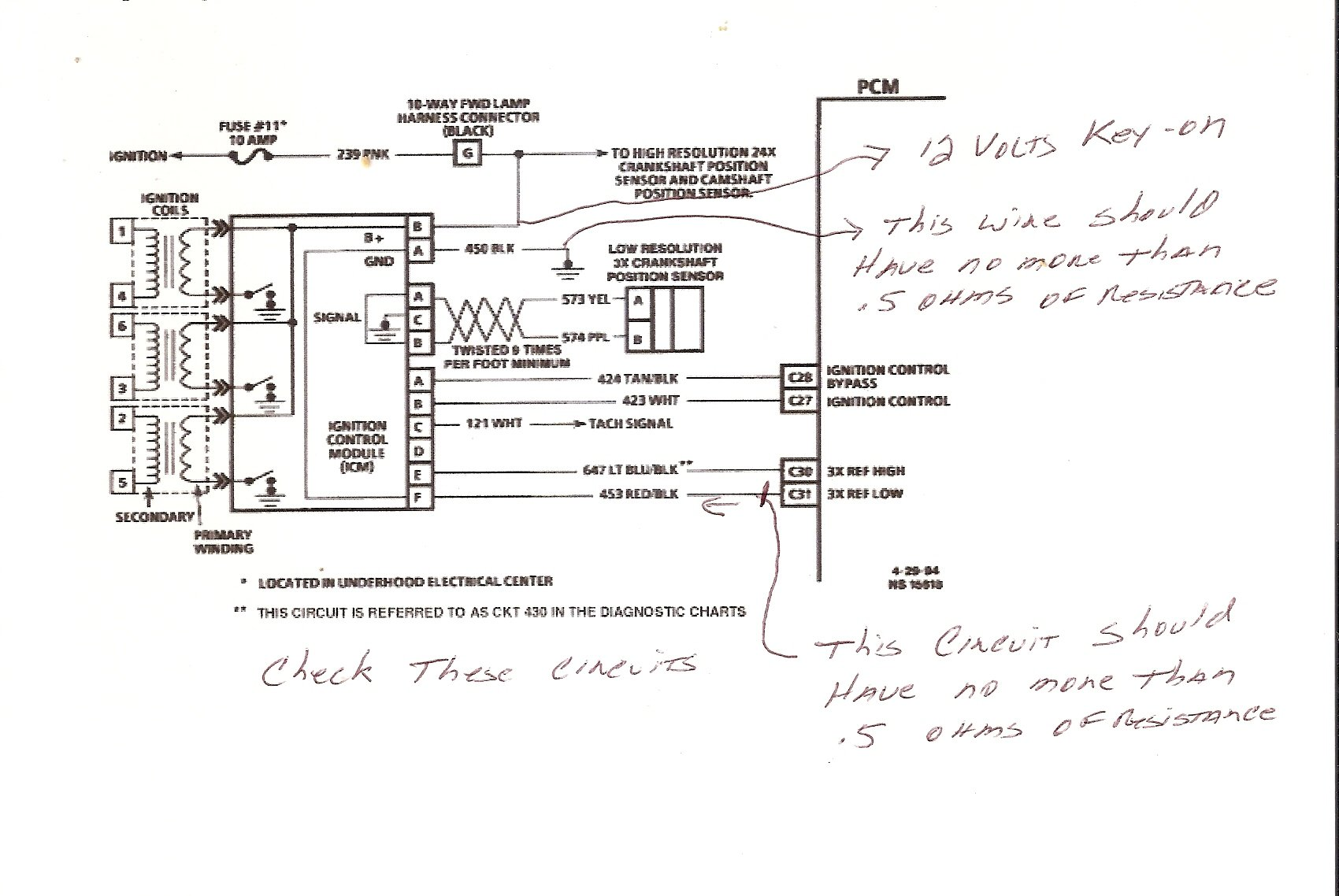 I Have 1995 Firebird 34 V6 Not Getting Any Spark No Trigger Lowe 170 Wiring Diagram Wire Graphic