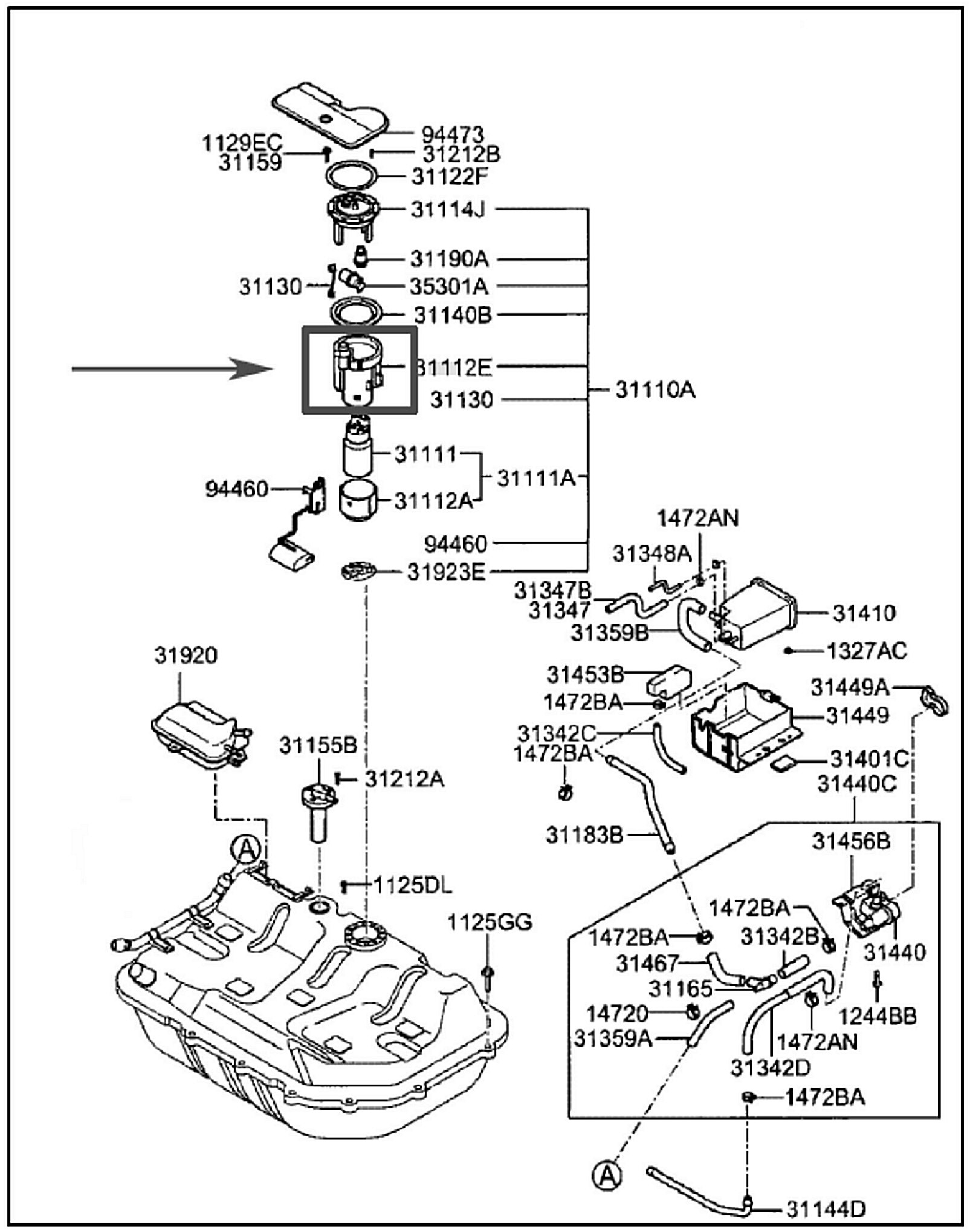 2000 Hyundai Sonata Fuel Filter Location      Wiring       Diagram