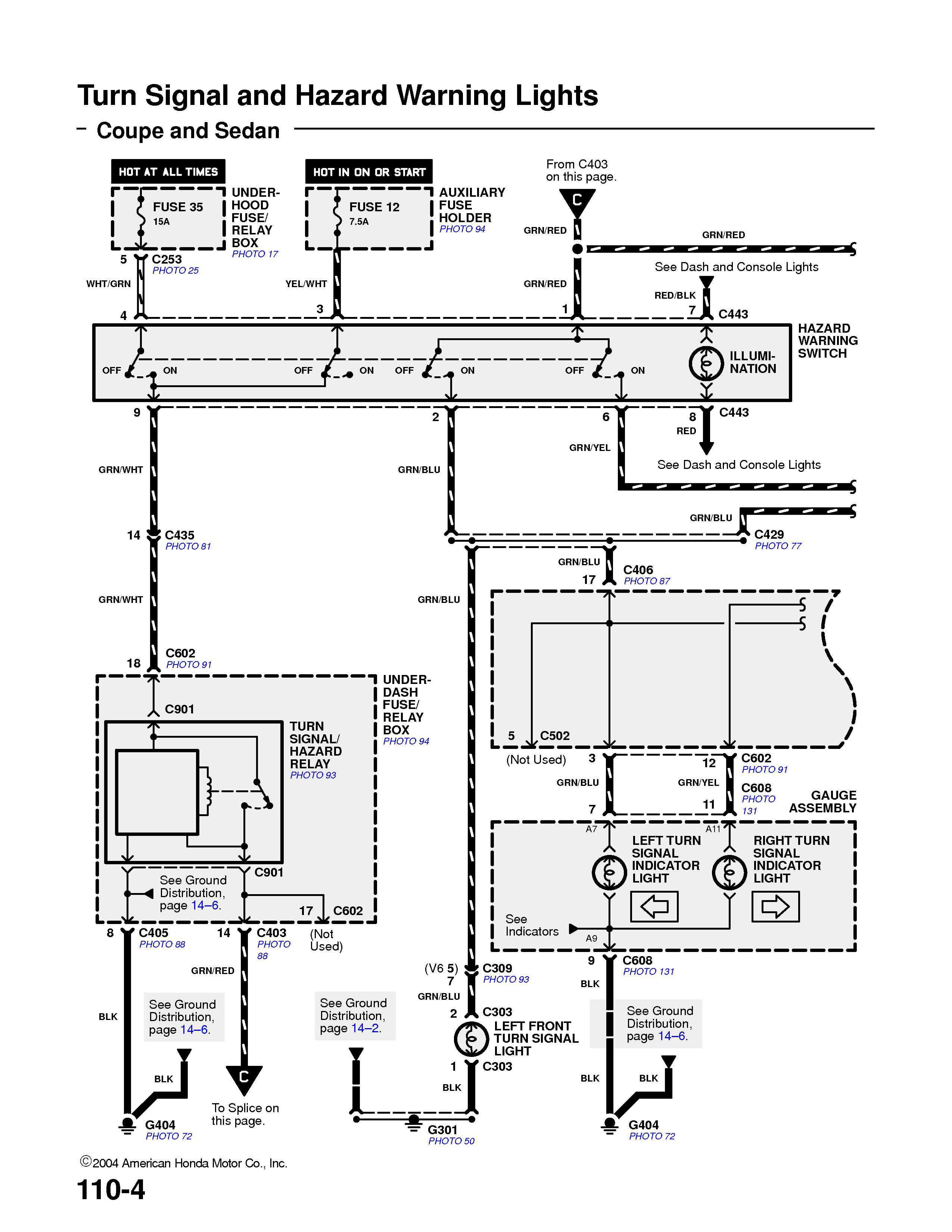 Honda Accord 1994 Blows Signal Fuse  10 Amp  Under The