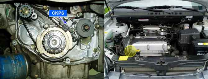 How do i replace the crankshaft position sensor on a 2004 Kia optima