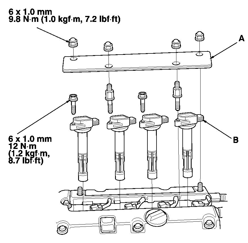 how do i replace spark plugs in 2004 crv? i have removed the plastic celica engine diagram sparks 2003 cr v engine diagram #41