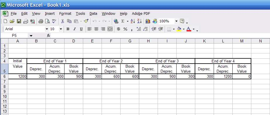 How do i make a depreciation schedule in microsoft excel graphic ccuart Choice Image