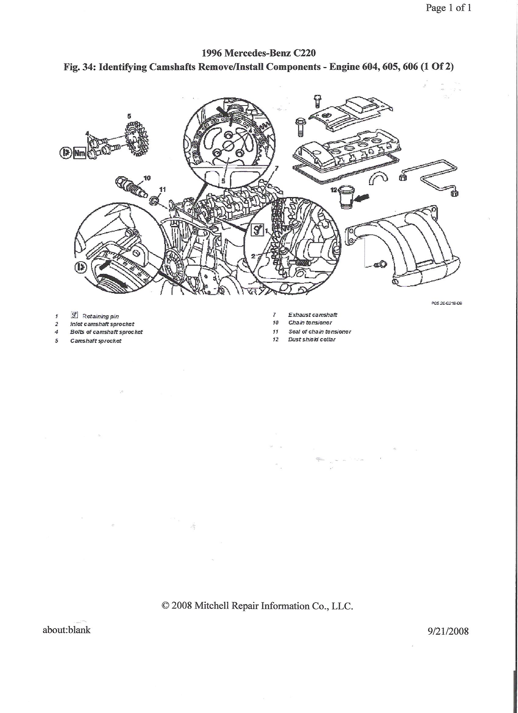 Engine Cylinder Diagram I Need To Know Where Are The Timing Marks At On 96 Mercedes C220 Ok Sorry Proceedures Basically Same For 6 And4 Cyl Engines Am Sending You 4 Diagrams Thanks Joe