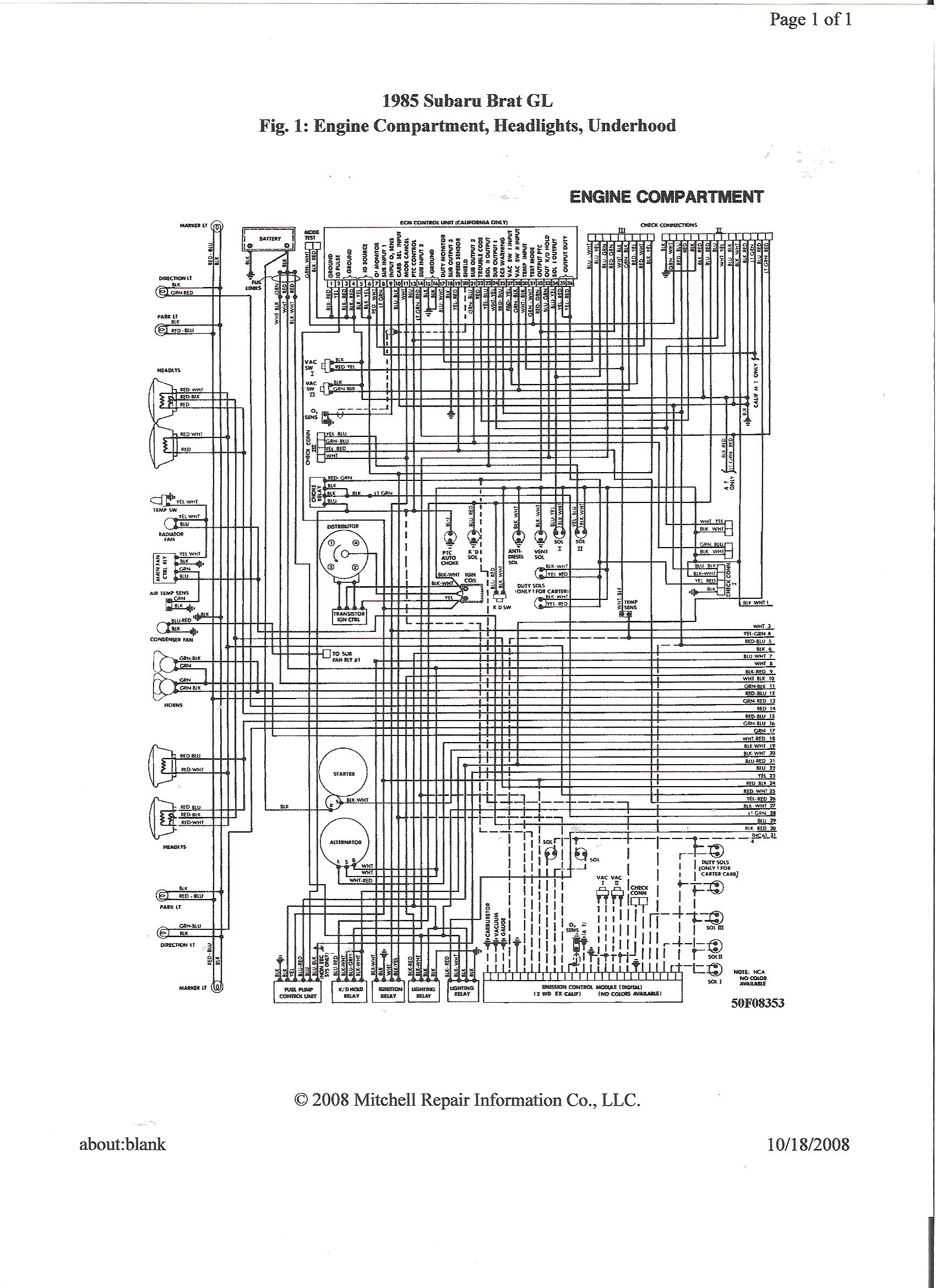 1985 Subaru Brat Wiring Diagram Another Blog About Univox U 1001 Schematic With Quad Headlights Low Beams Work But Lose All Rh Justanswer Com