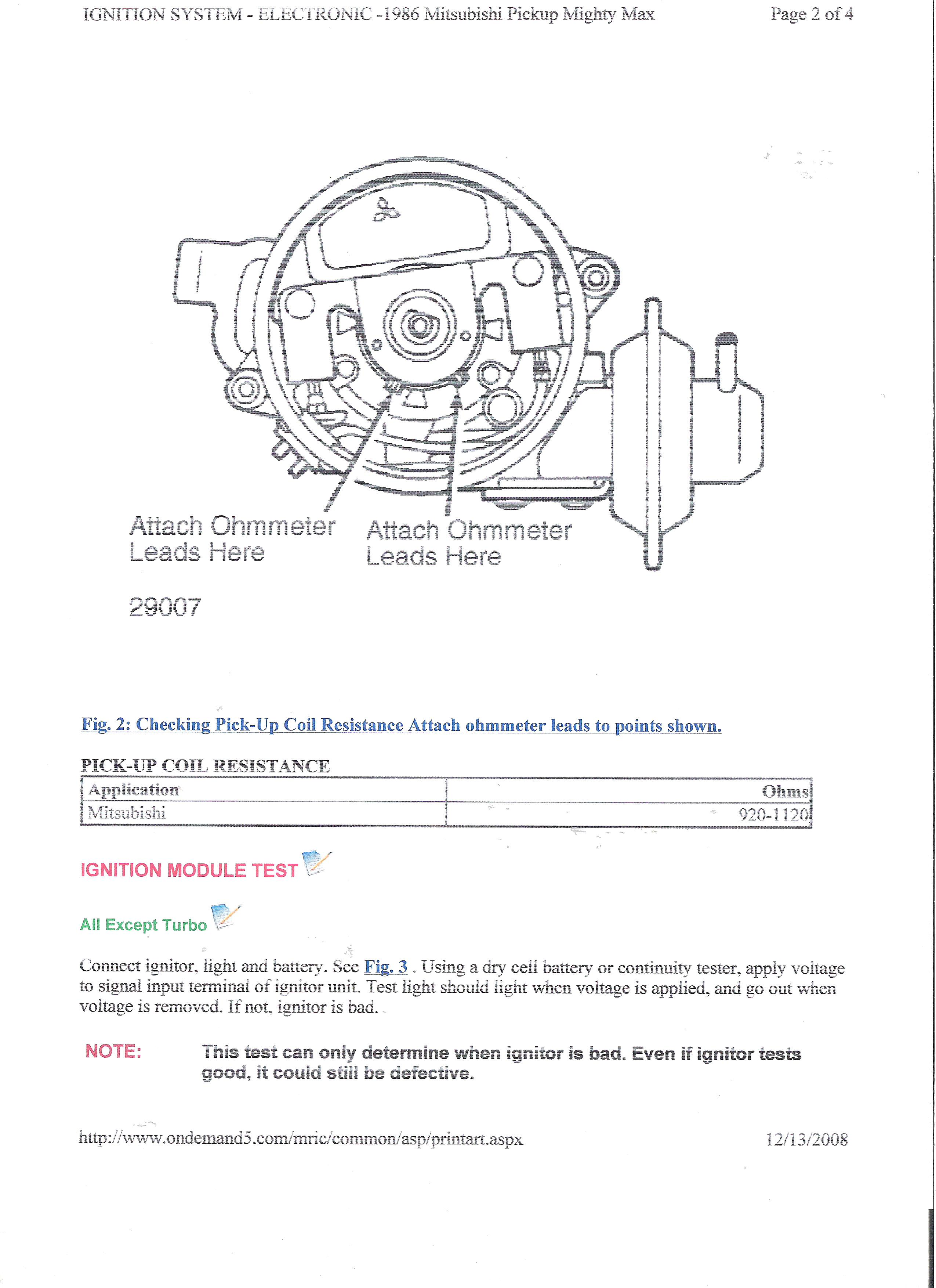 While Starting My Truck I Have To Crank The Engine Over For A Time 1986 Mitsubishi Wiring Diagram Thanks Joe Graphic