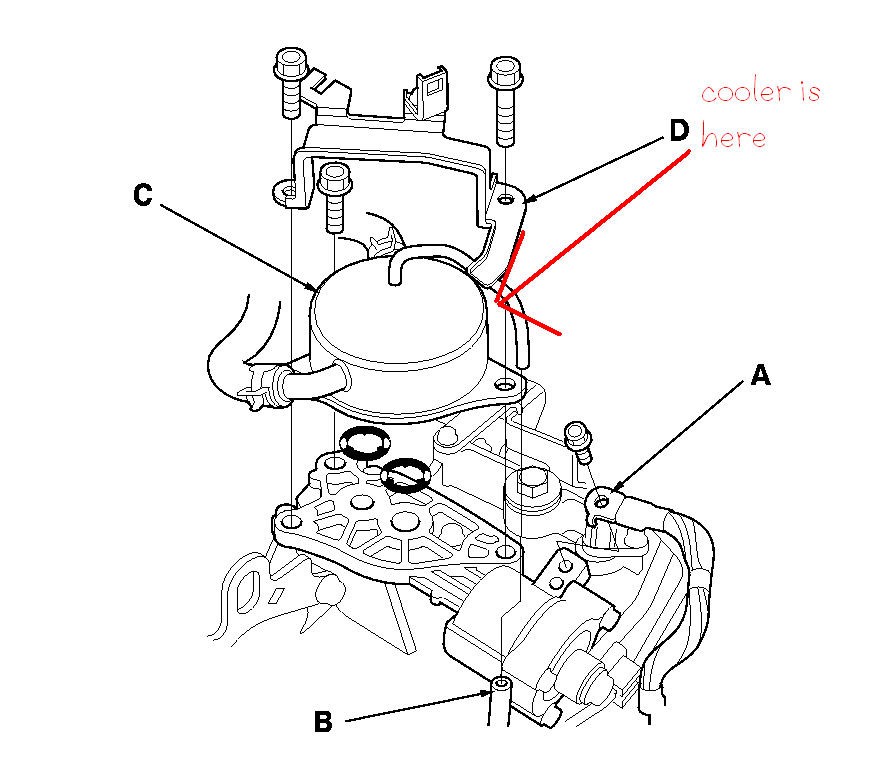 Where Is The Transmission Cooling Return Line On 2005 Accord