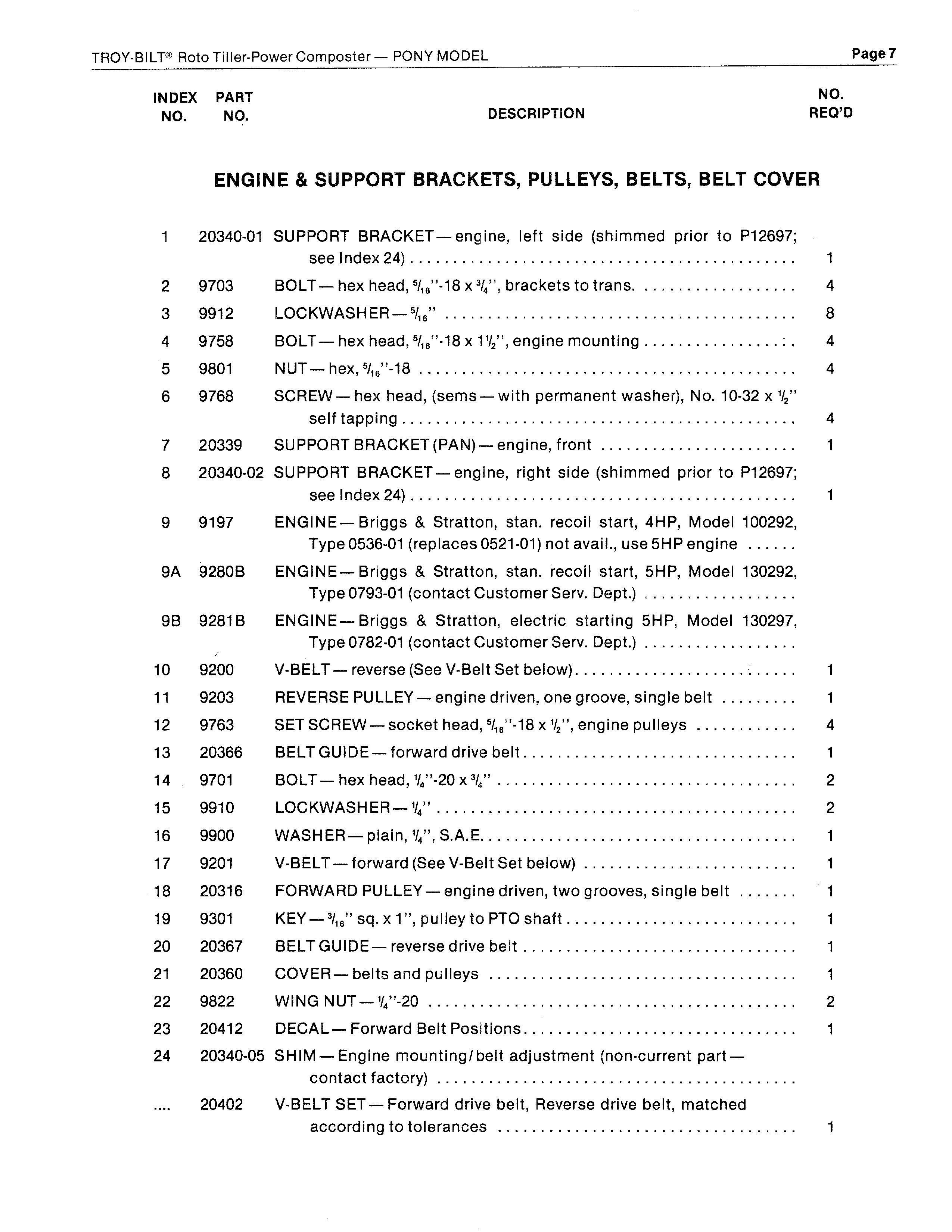 troy bilt horse repair manual