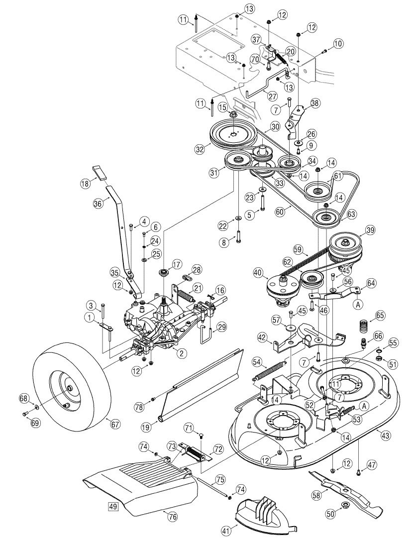 cub cadet belt replacement diagram