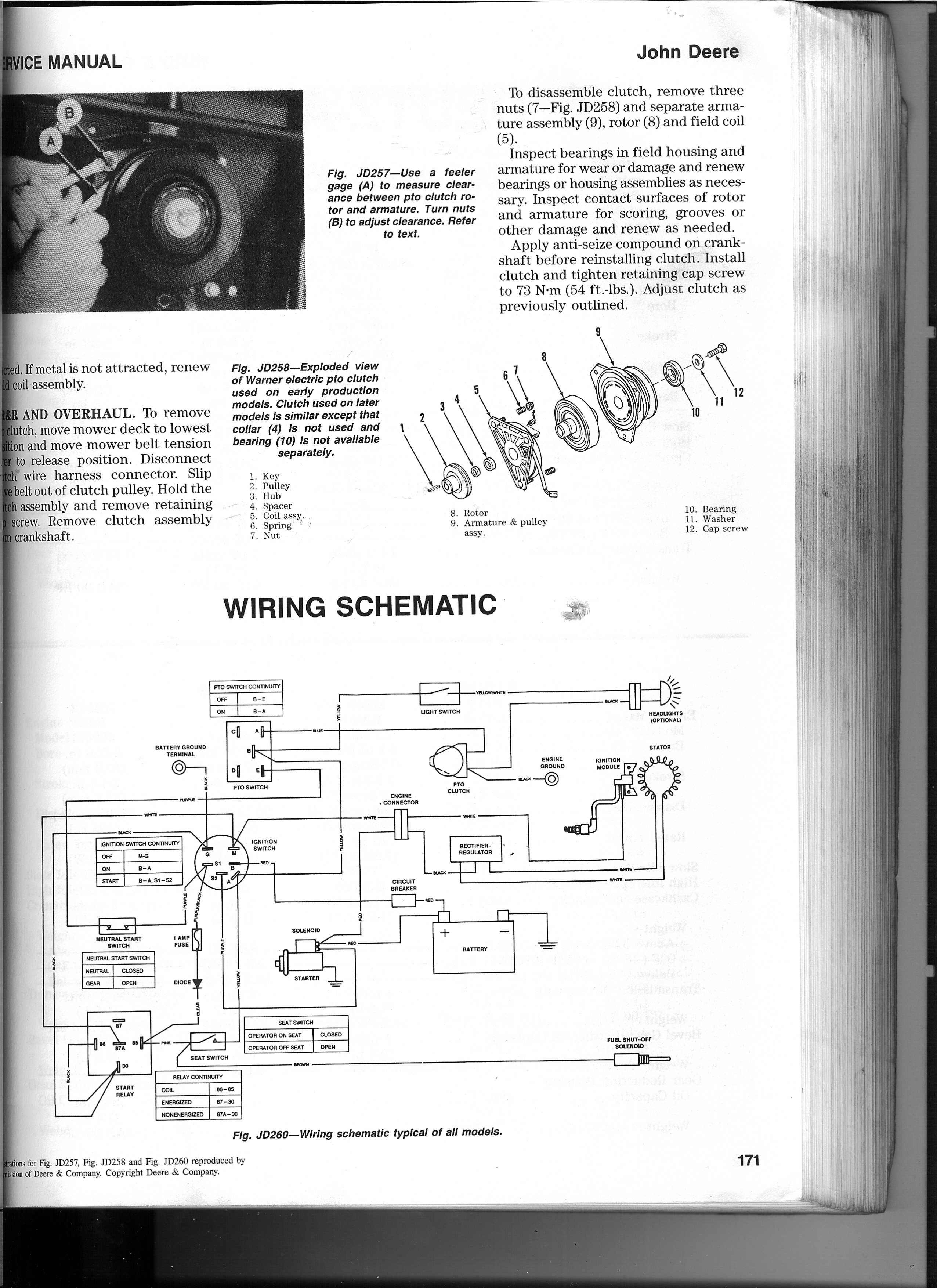 Wire Diagram Deere Stx38