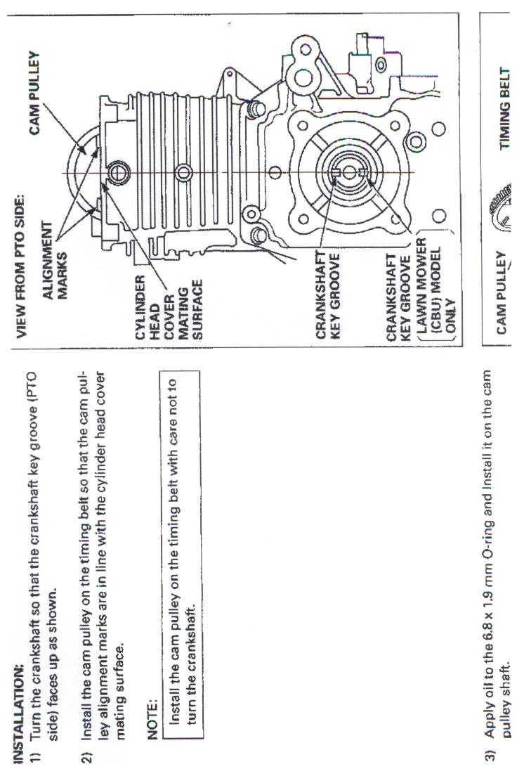 replace  crankshaft   gcv ohcohv honda lawn mower engine  dont