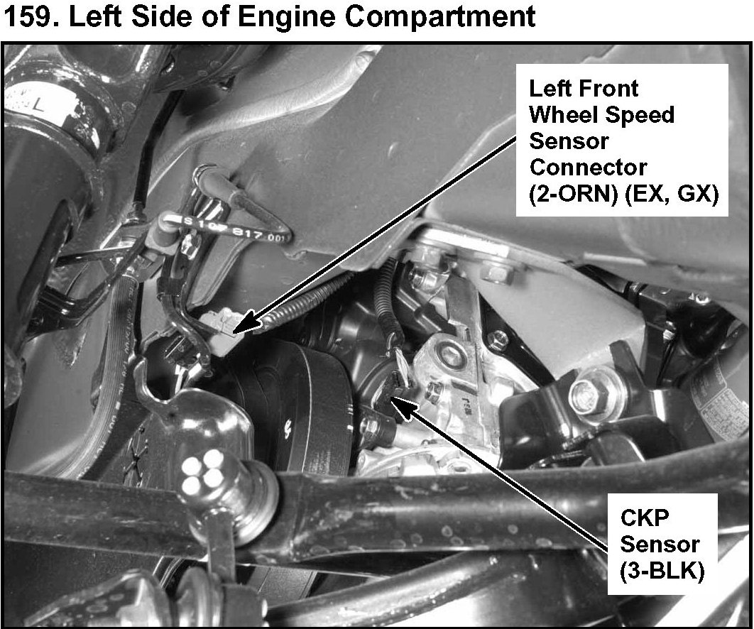 Where Is The Crankshaft Sensor Located On A 2001 Honda Civic