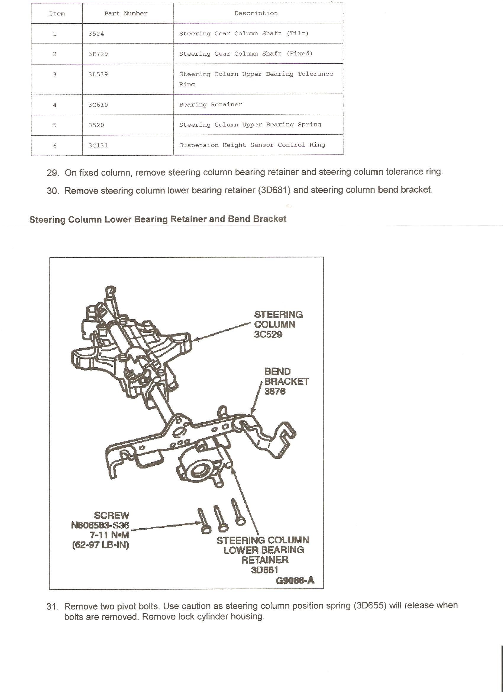 Need Instructions And Pics For Dis Assembly Of Steering Column 1983 Ford Diagram Steve Graphic