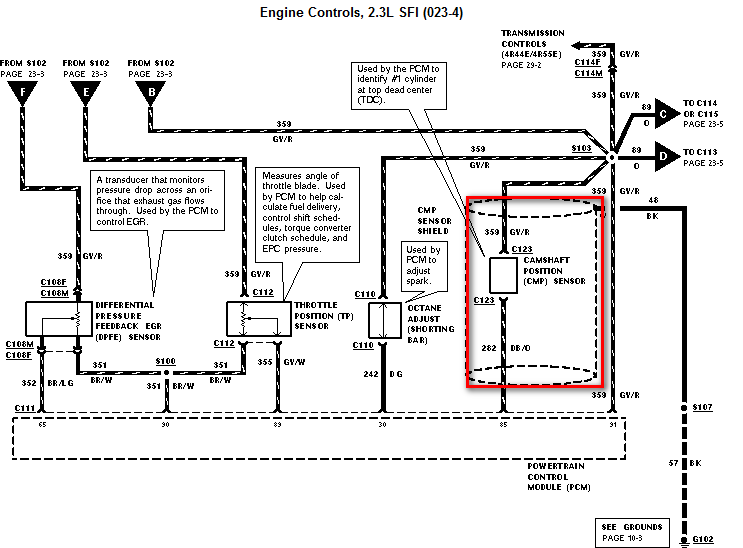 crank sensor wiring diagram ford