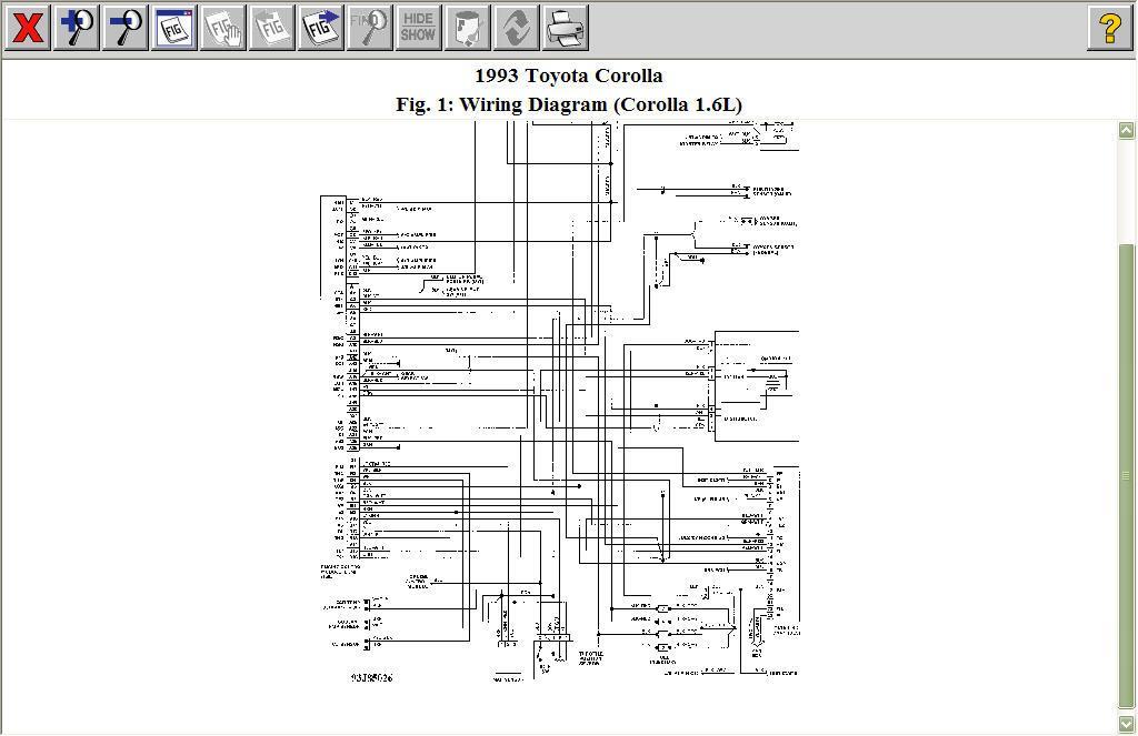 1993 toyota corolla fuel pump wiring diagram  1985 toyota