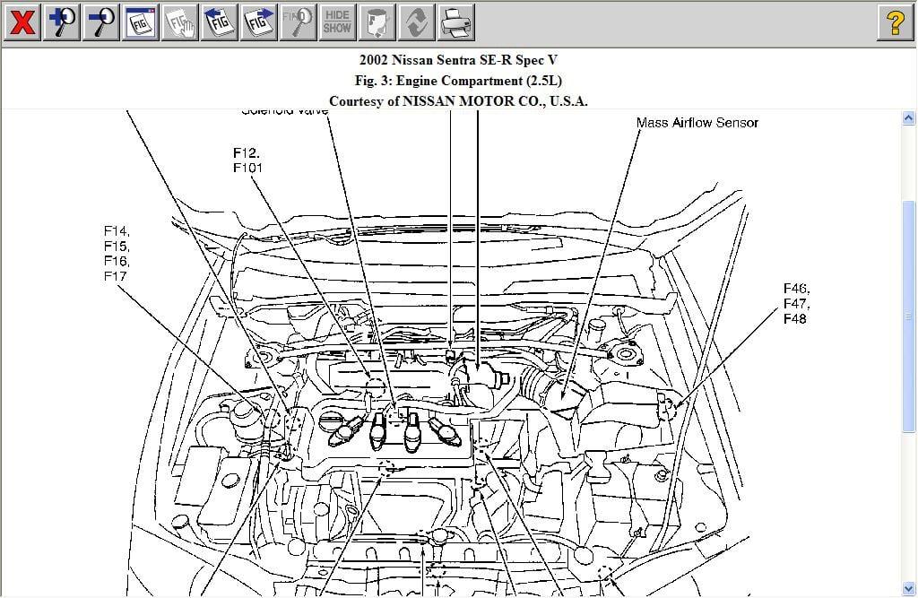 2002 nissan sentra 1 8l engine diagram nissan auto parts. Black Bedroom Furniture Sets. Home Design Ideas