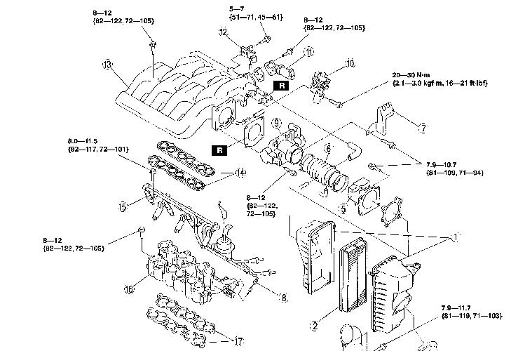 I Assume That Need To Take The Intake Manifold Off Of A 2001 Mazda. Mazda. 2001 Mazda Mpv Pcv Diagram At Scoala.co
