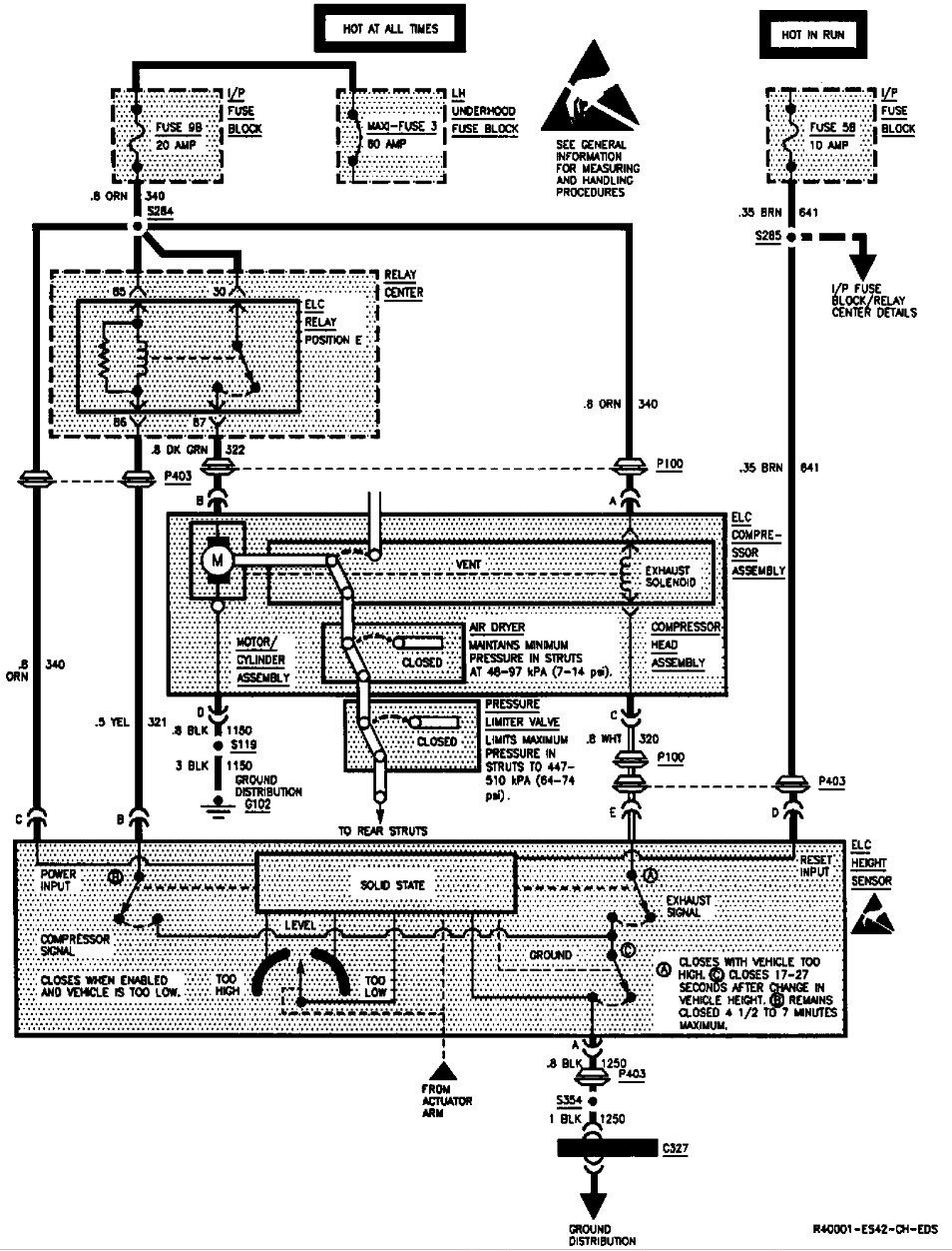i have a 94 park ave. with dynaride suspension. the rear ...  elc diagram