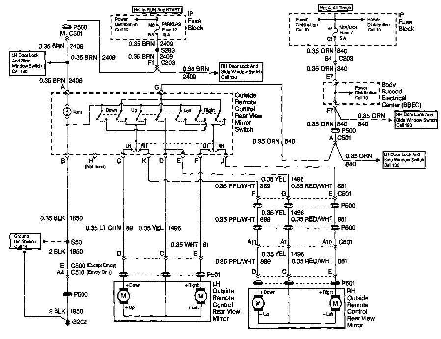 Dodge Ram Power Mirror Wiring Diagram