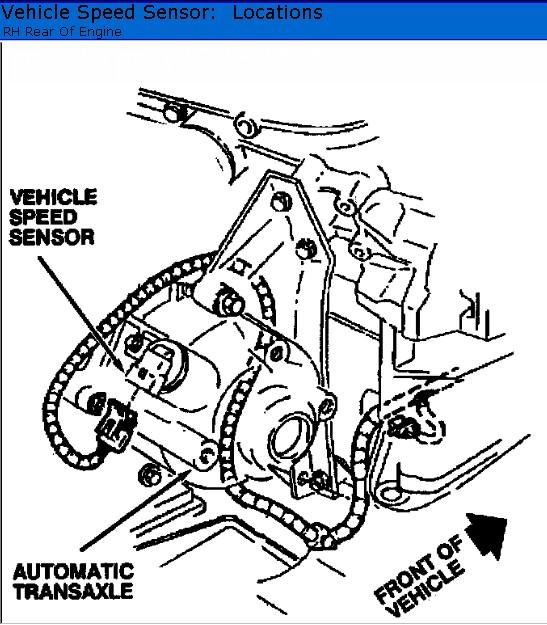 2001 Grand Marqui Speed Sensor