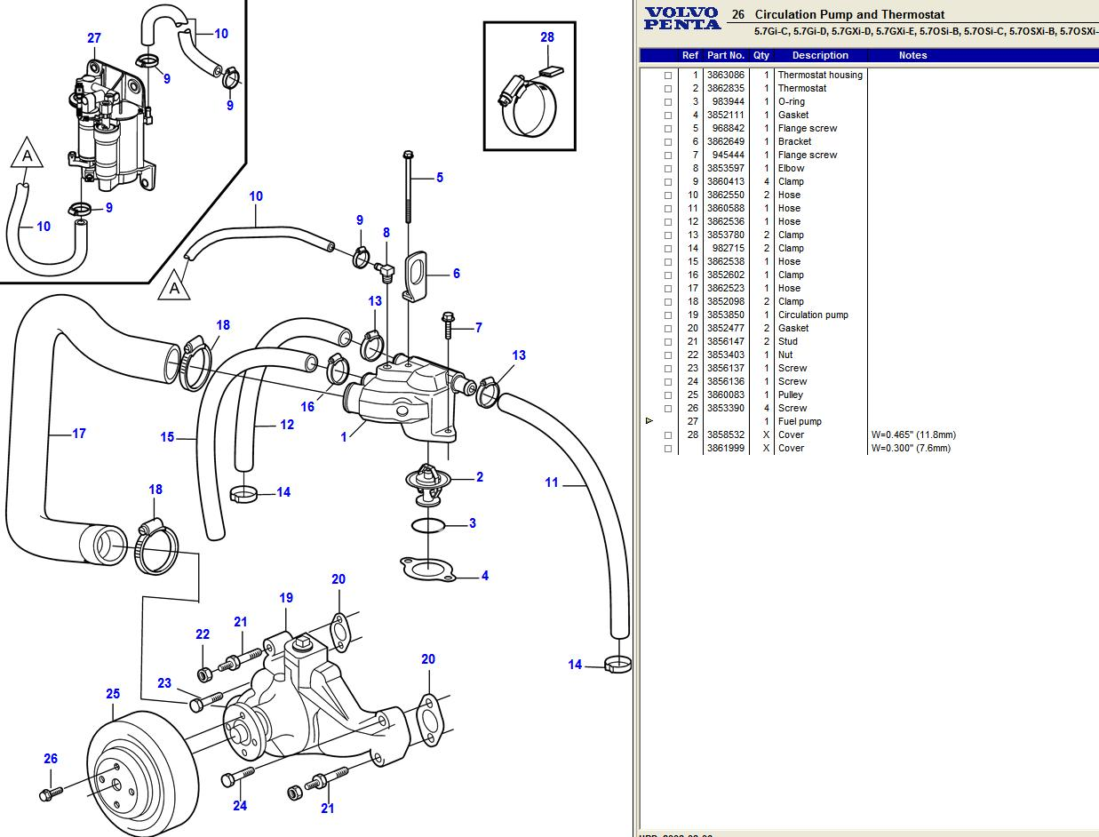 I Need To Replace The Thermostat On A Volvo Penta 5 7gxi