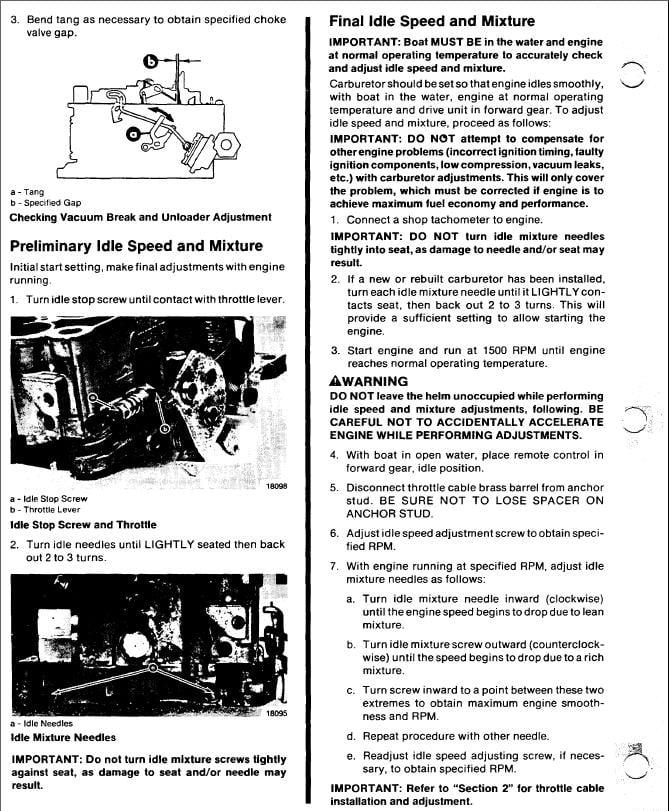 rochester carburetor adjustments