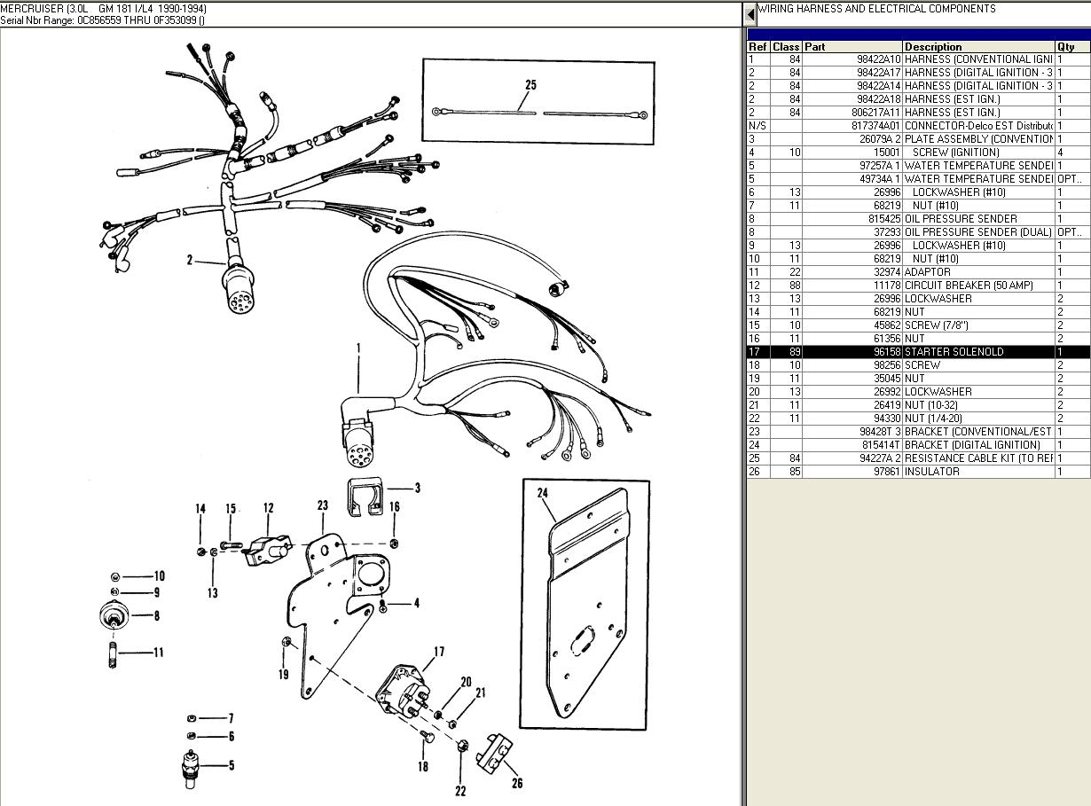 Mercruiser Slave Solenoid Wiring Diagram 1992 Jeep Cherokee I Have A Sea Ray 170 With 30