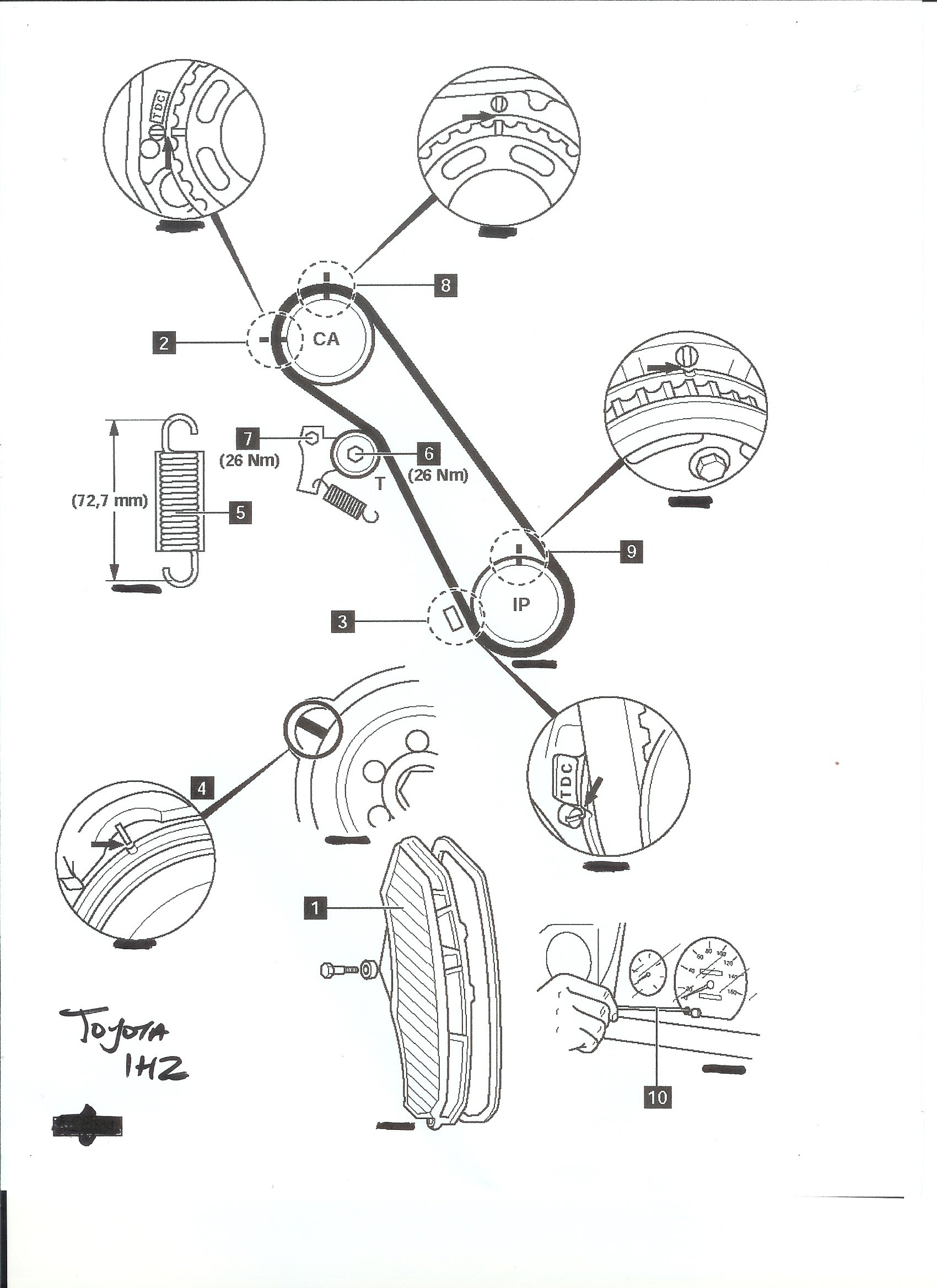 Diagram Of 1hz Engine Wiring And 1996 Toyota Land Cruiser Timing Belt Marks For On