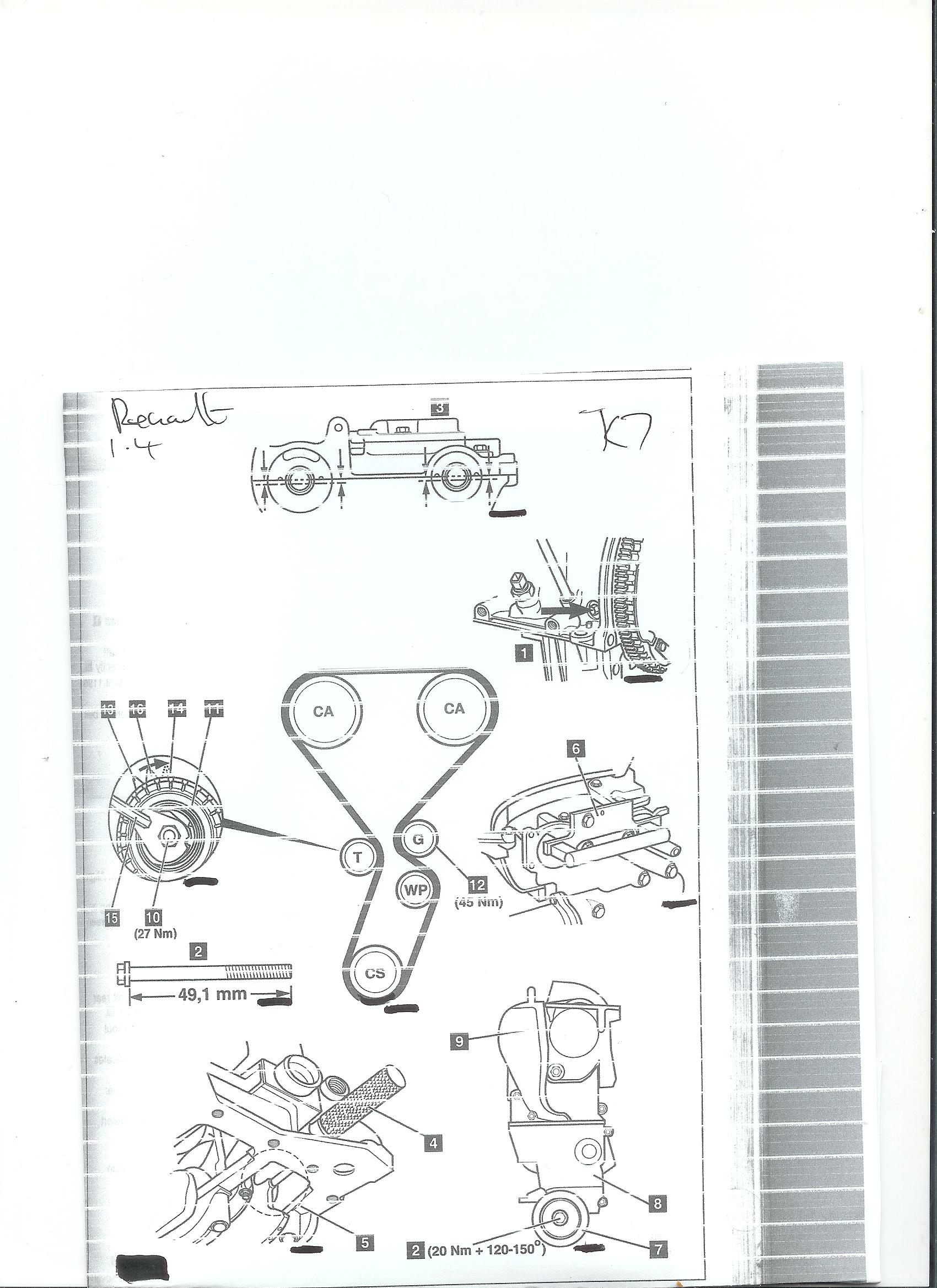 I Need Timing Belt Replacement Diagrams And Settings For 2002 Renault Graphic