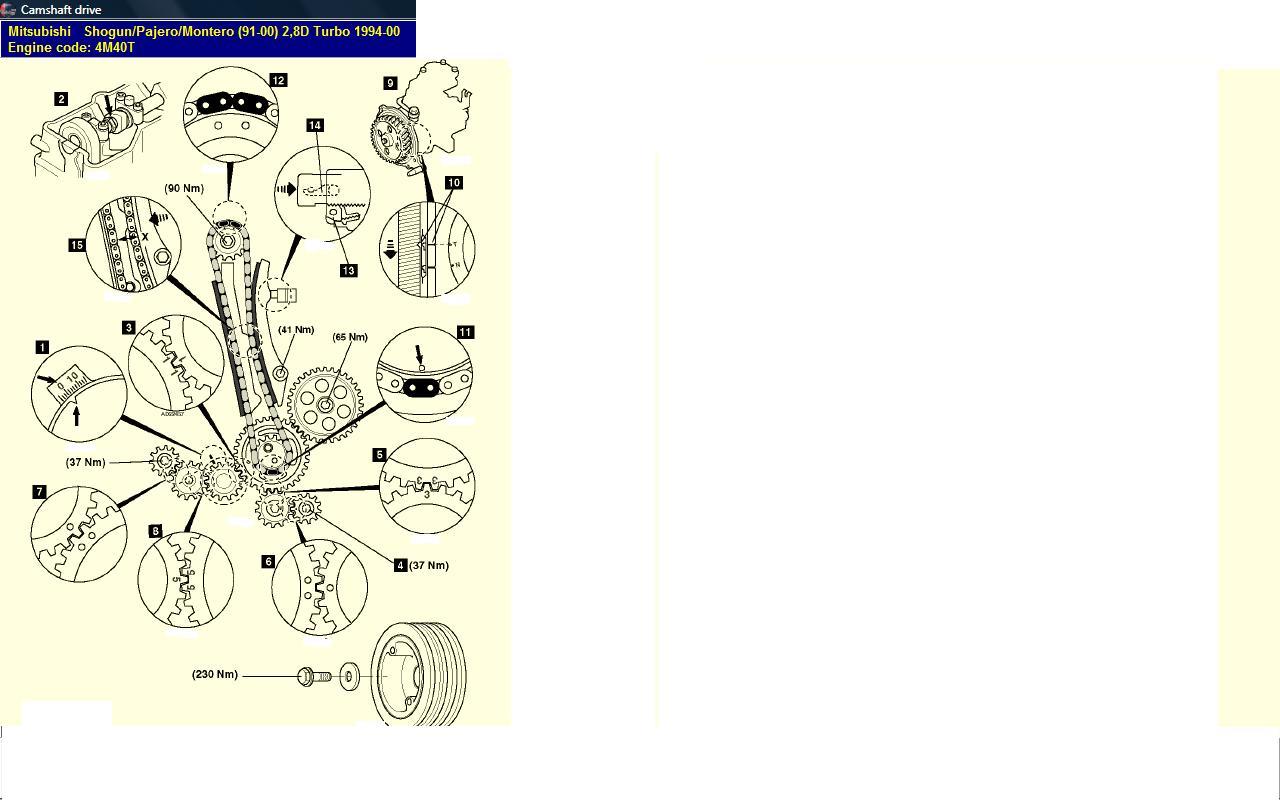 How To Set Timing Marks On Mitsubishi Shogun Td