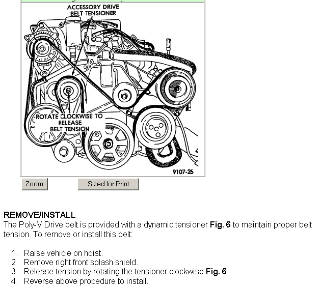 How Do I Replace The Serpentine Belt On A 1993 Dodge Grand