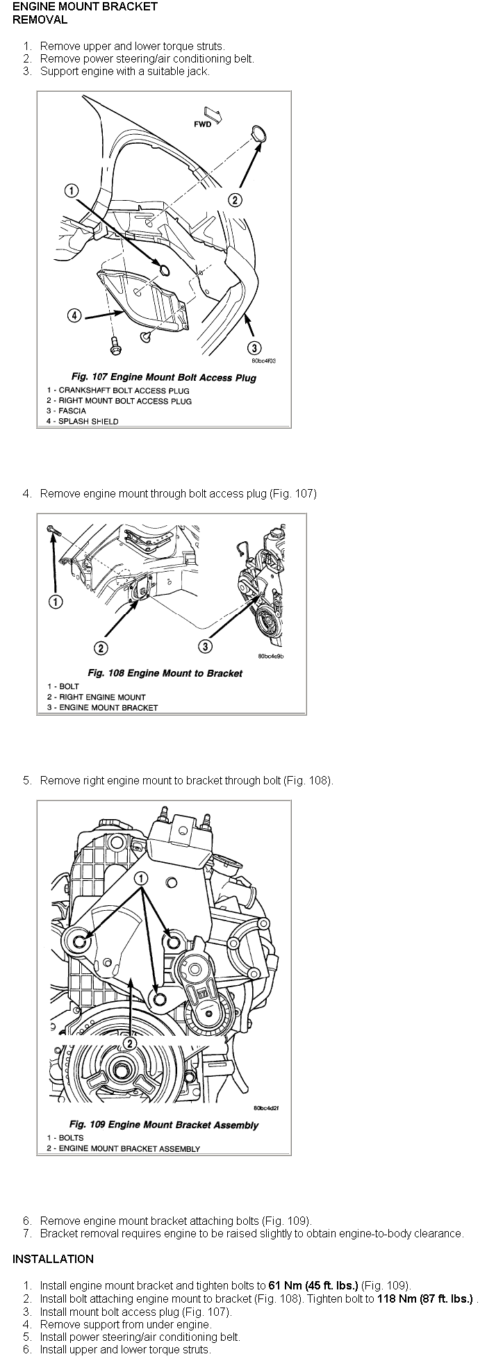 Is There A Breakdown Available Online On Removing And Installing Detailed C Compressor Bracketry Installation Diagram Install Engine Mount Bracket Assembly