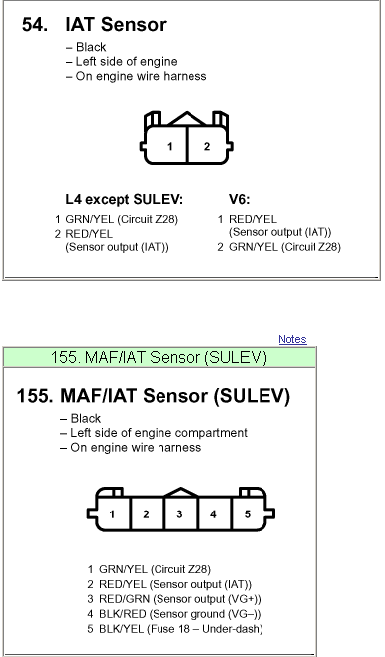 I need to know which wires on the MAF/IAT sensor are for the IAT on Maf Iat Wiring Diagram on
