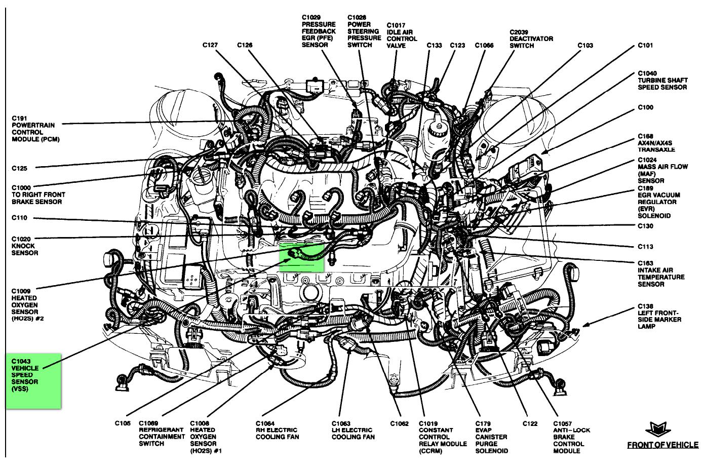 95 ford taurus engine diagram wiring data schema u2022 rh paletteparty co 1997 Taurus Wiring Diagram 2001 Taurus Wiring Diagram