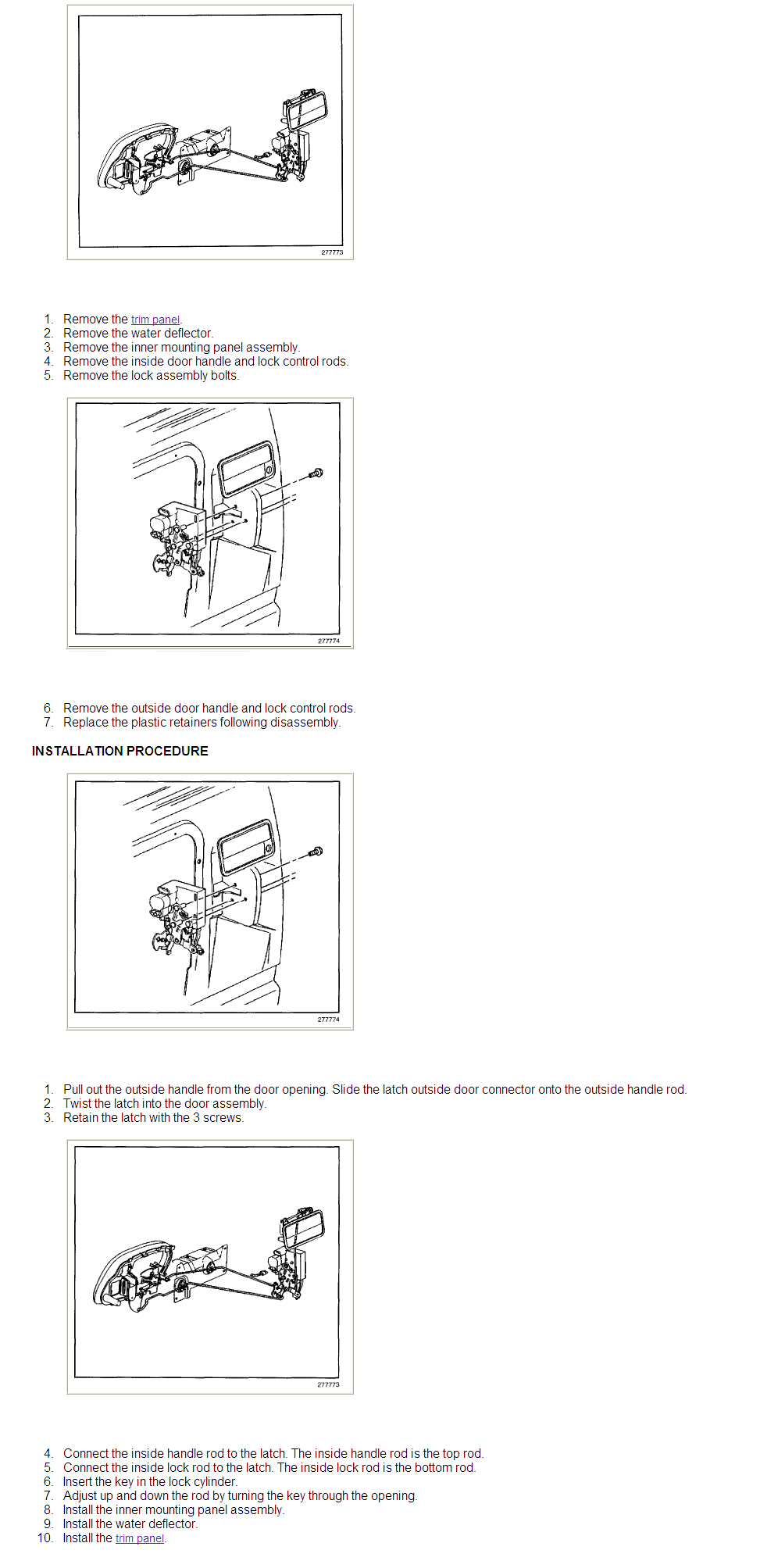 Exploded Diagram For 1999 Yukon Drivers Outside Door