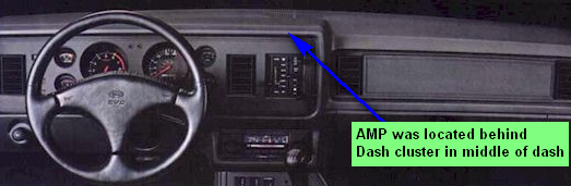Where is amp located in 1984 mustang and how do I bypass it when