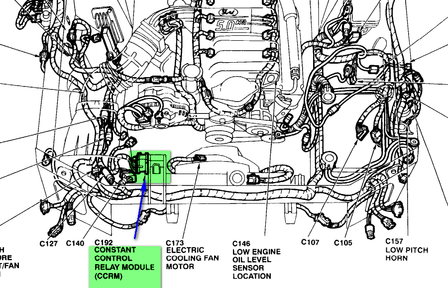 whre is the fuel pump relay on a 1995 ford mustang gt with a 5 0 rh justanswer com 1994 F250 Speaker Wiring Diagram 1993 Ford Mustang Wiring Diagram