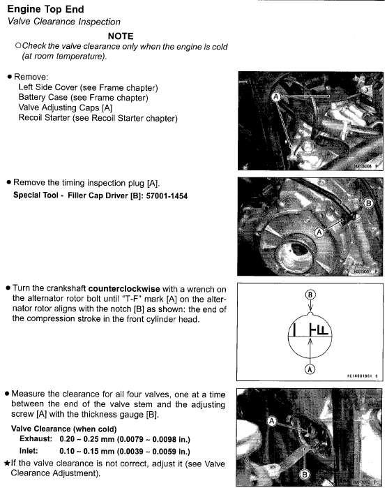 Im looking for a valve adjustment diagram for a 2007 Kawasaki – Kawasaki Brute Force 300 Engine Diagram