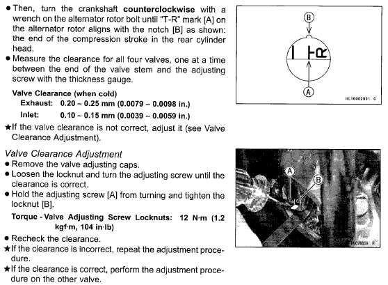I U0026 39 M Looking For A Valve Adjustment Diagram For A 2007