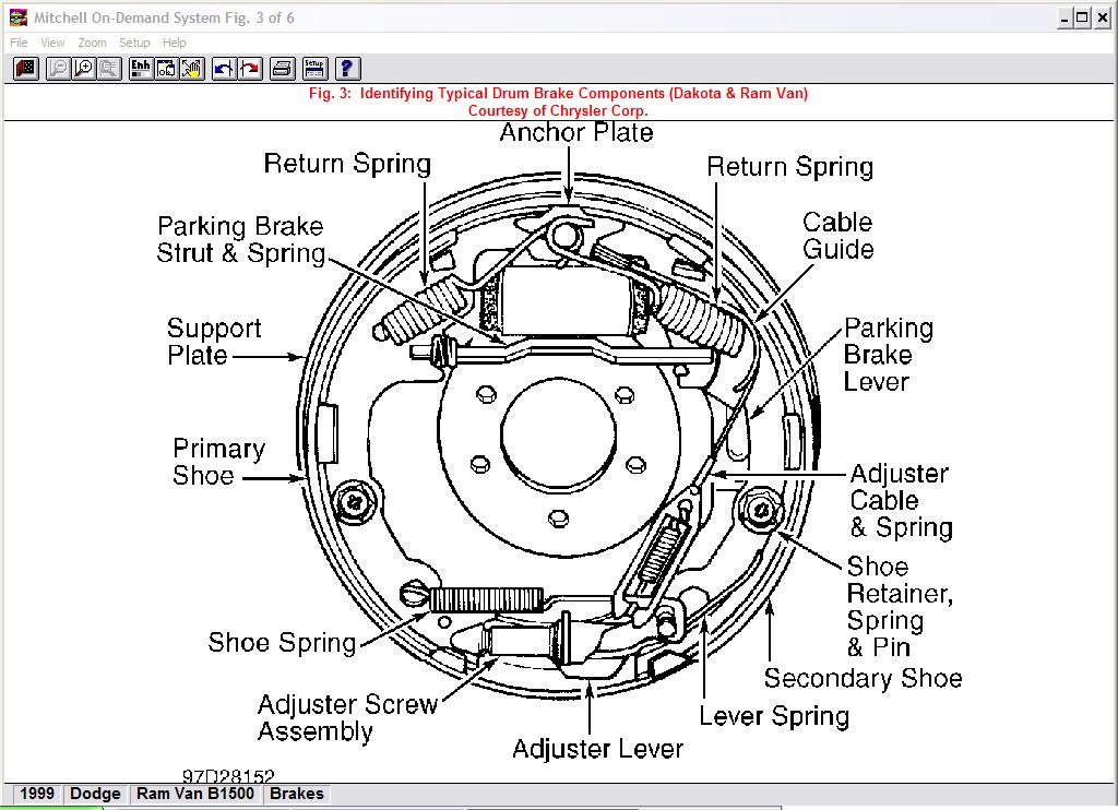 Diagram For 1999 Dodge Ram 1500 Van Rear Brake