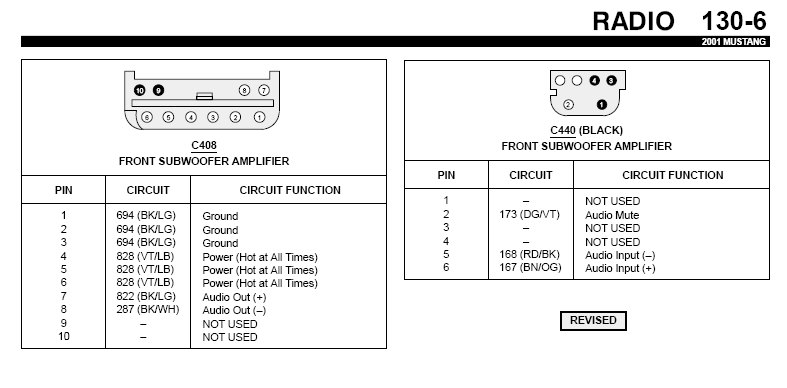 Stereo Wire Diagram For 2001 Mustang Also When I Intall The Head Unit Do I Run The Ground Wire From The Head Unit To