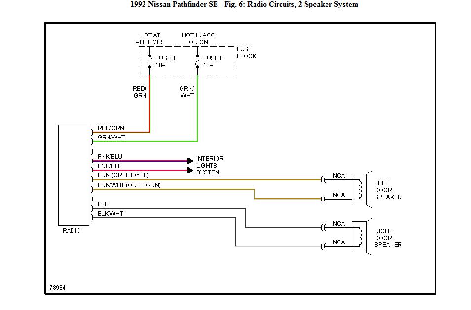 1992 nissan pathfinder stereo wiring pathfinder free printable wiring diagrams