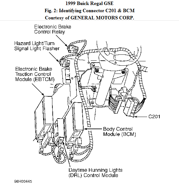 1999 buick regal light control module location - wiring diagrams image free