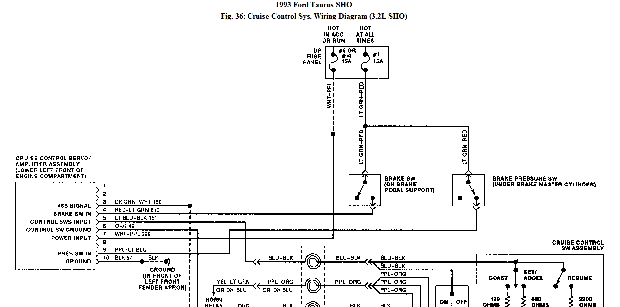 i need a wiring diagram for cruise control on a 1993 ford taurus sho 1989 Ford Taurus Sho graphic graphic