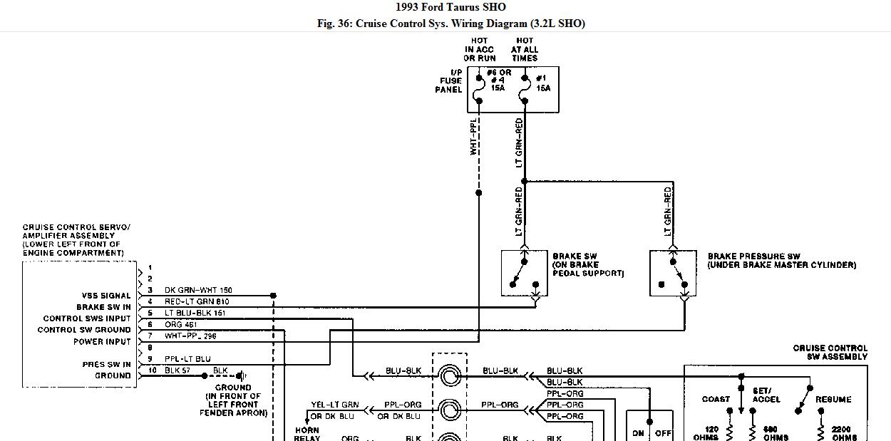 93 ford taurus sho wiring diagram