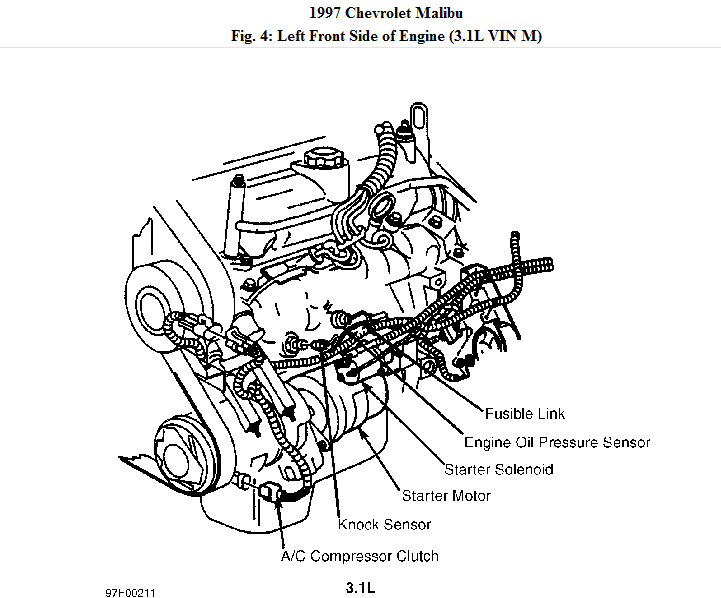 i want to know where the starter is located rh justanswer com 2010 chevy malibu starter location 2000 chevy malibu starter diagram