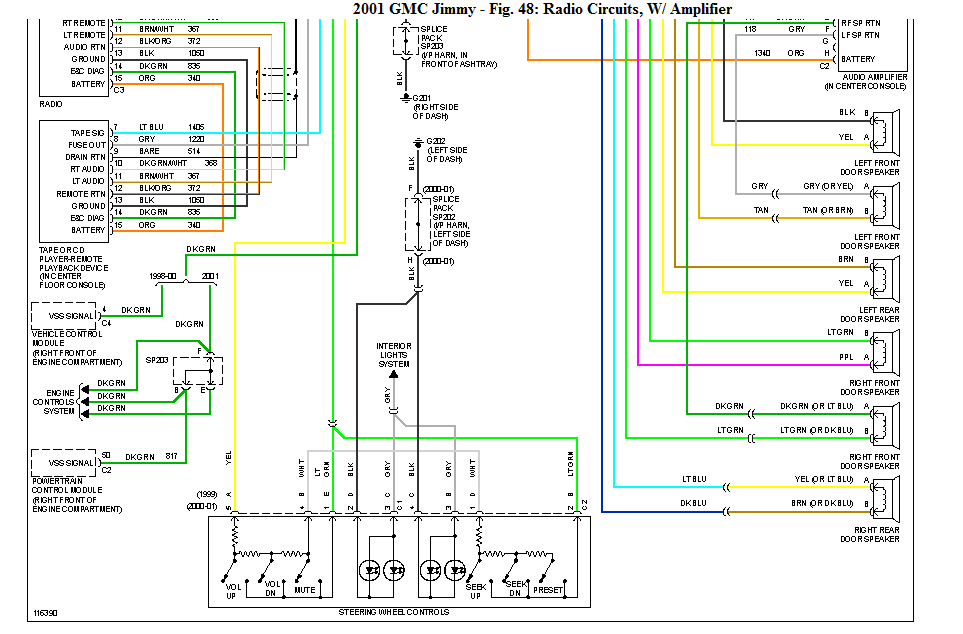 I Need A Gmc Jimmy Diamond Edition Wiring Diagram For The Premium Bose Radio