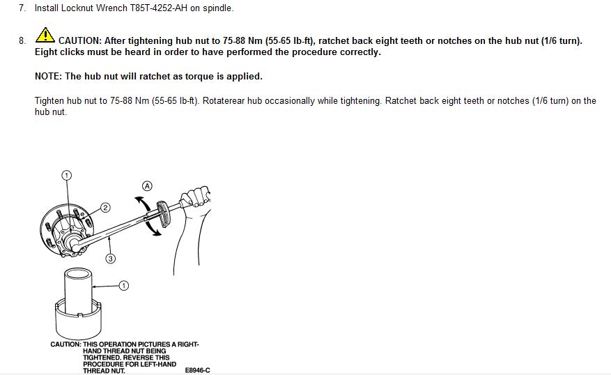 97 f350 7 3 4wd how do i set rear wheel bearing locknut skf guide rh justanswer com Torque Specifications Table skf torque spec guide