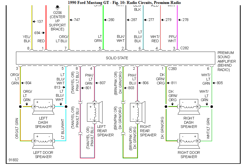 I Need A Wiring Diagram  Color Coded  For A 1990 Ford