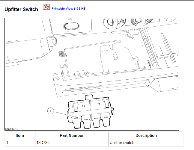 2006 Ford Upfitter Switches Wiring Diagram